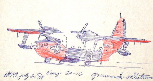 Ball-pen and red pencil, 1959: SA-16 at Patrick, AFB