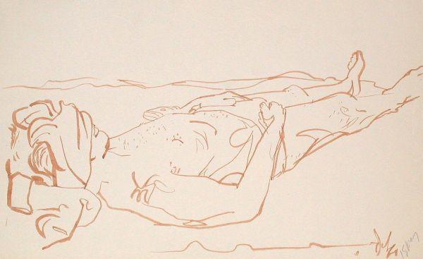 Brush & Ink, 1960: Dean On Cocoa Beach