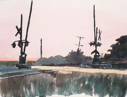Watercolor, 2003: Crossing, II