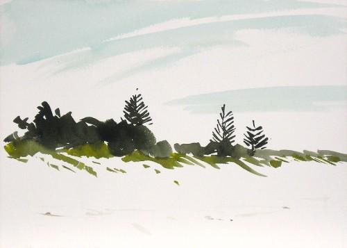 Watercolor, 2004: Goode Beach