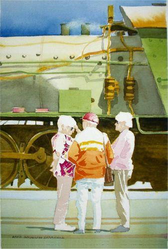 Watercolor, 2002: W at Pinjarra